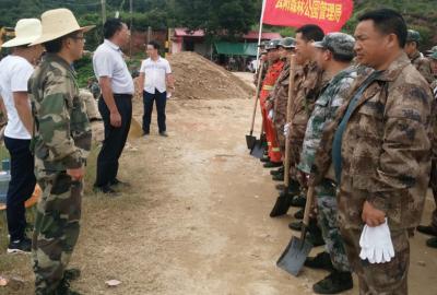 云阳国家森林公园管理局 全力以赴参加龙头水库抗洪抢险